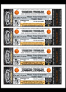 custom basketball ticket party invitations