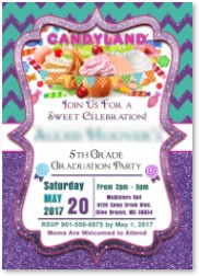 custom candyland party invitations