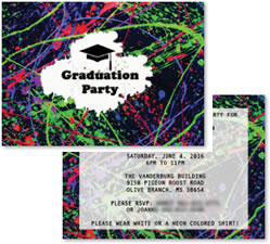 custom glow party invitations