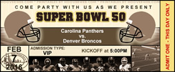 super bowl 50 free party invitations