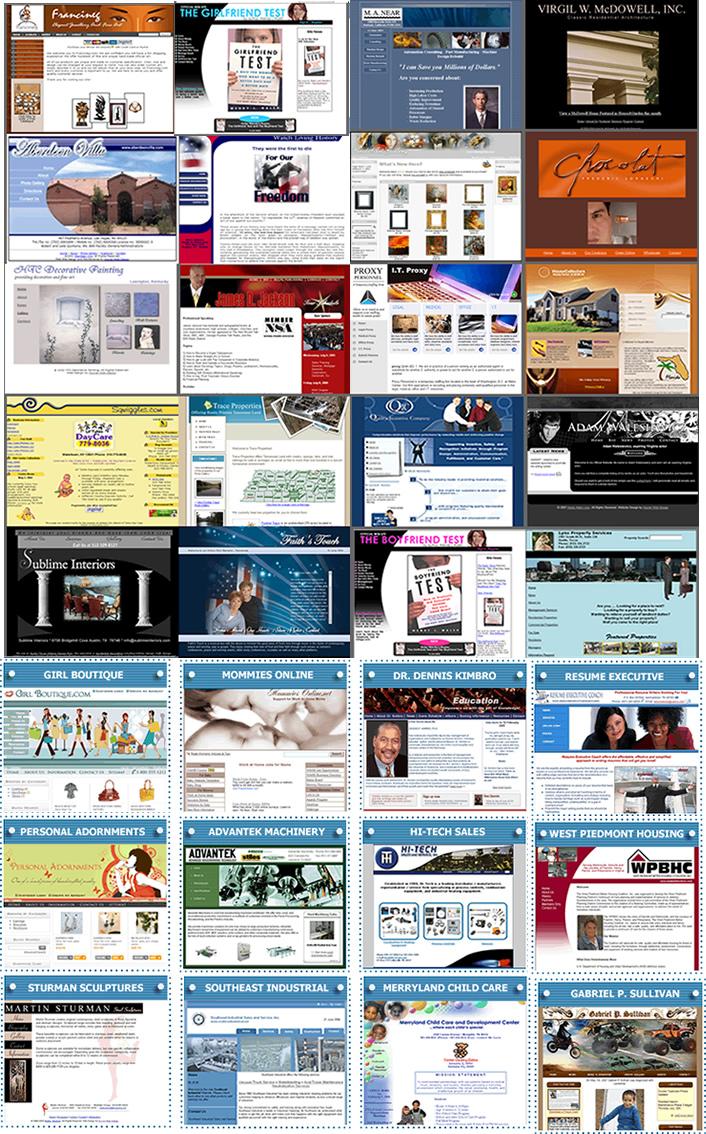 Hoover Web Design Portfolio