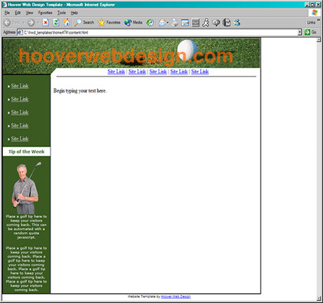 yahoo ecommerce templates - hoover web templates preview home474 html web site design